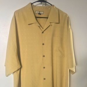Tommy Bahama XXL BIG/TALL woven detail Silk Shirt